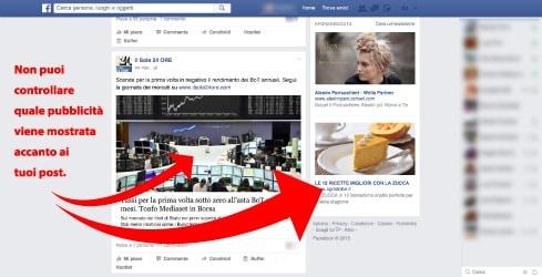 Controllo limitato nei profili Facebook