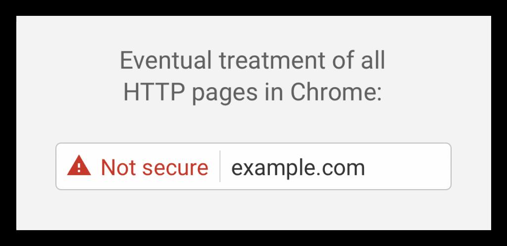 come Chrome mostrerà le pagine non HTTPS